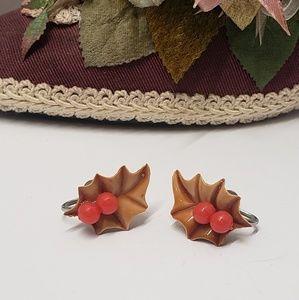 Vintage Leaf & Berries Earrings